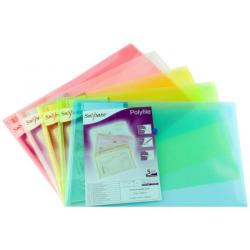 Cheap Stationery Supply of Snopake Polyfile (Foolscap) Classic Polypropylene Wallet (Assorted Colours) Pack of 5 Wallets 10087X Office Statationery