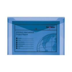 Cheap Stationery Supply of Snopake Polyfile Electra Wallet File Polypropylene Foolscap Blue (Pack of 5) 11164 Office Statationery