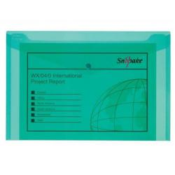 Cheap Stationery Supply of Snopake Polyfile Electra Wallet File Polypropylene Foolscap Green (Pack of 5) 11160 Office Statationery