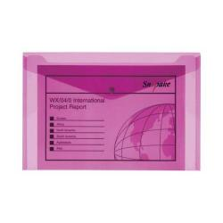 Cheap Stationery Supply of Snopake Polyfile Electra Wallet File Polypropylene Foolscap Pink (Pack of 5) 11163 Office Statationery