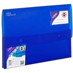 Cheap Stationery Supply of Snopake Polyplus Electra (A4) Heavy-duty Polypropylene Wallet File (Assorted Colours)  1 x Pack of 5 11756 Office Statationery