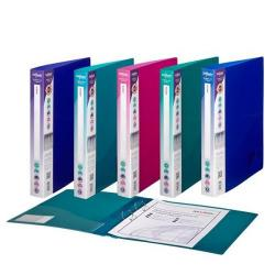 Cheap Stationery Supply of Snopake Elektra (A4) Polypropylene Ring Binder 2 O-Ring 25mm (Assorted Colours) Pack of 10 Binders 10165 Office Statationery