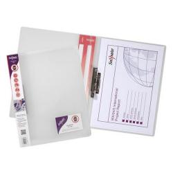 Cheap Stationery Supply of Snopake Electra (A4) Polypropylene Clamp Binder (Clear) Pack of 10 Clamp Binders with Capacity  for up to 100 A4 80gsm Sheets Clear 12772 Office Statationery