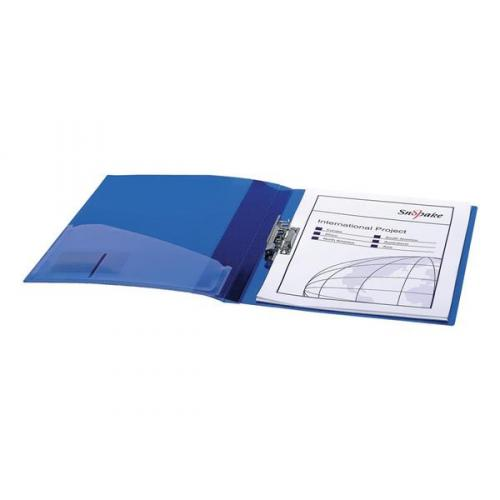Snopake Electra (A4) Polypropylene Clamp Binder (Blue