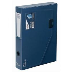 Cheap Stationery Supply of Snopake DocBox (A4) Polypropylene Box (25cm x 34cm x 6.5cm) File with Push Lock 60mm Spine (Dark Blue) 12867 Office Statationery