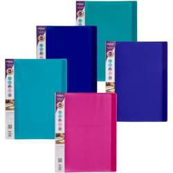 Cheap Stationery Supply of Snopake Electra (A4) 24-Pocket Polypropylene Display Book (Assorted Colours) Pack of 10 Display Books 12219 Office Statationery