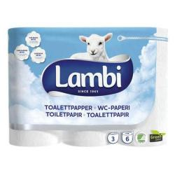 Cheap Stationery Supply of Lambi Luxury 3-Ply Toilet Tissue (White) on a Roll (Pack of 24 Rolls) LAMBIS Office Statationery