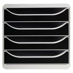 Cheap Stationery Supply of Exacompta Multiform Big Box Drawer Set Lt Grey and Black 310014D Office Statationery