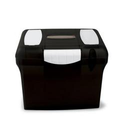 Cheap Stationery Supply of (A4) Freestyle File Box (Black) with Plastic Handle and 5 Suspension Files A4PLBK Office Statationery