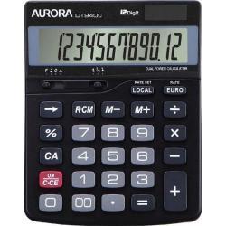 Cheap Stationery Supply of Aurora Semi-desk Calculator 12 Digit 3 Key Memory Battery/Solar Power 115x33x145mm Black DT940C Office Statationery