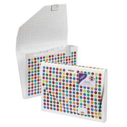 Cheap Stationery Supply of Snopake 6-Part Expanding File Organiser Polka Dot Pack of 5 15739 Office Statationery