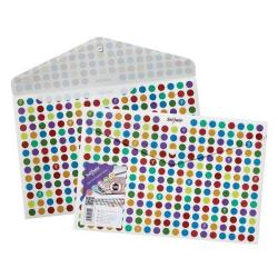 Cheap Stationery Supply of Snopake (Foolscap) Polyfile Polka Dot Pack of 5 15742 Office Statationery