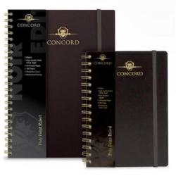 Cheap Stationery Supply of Concord Noir (A4) Wirebound Notebook Polypropylene Cover 160 Pages 90gsm 8mm Feint Ruled (Pack of 3) 7506-NOI Office Statationery