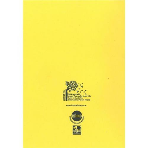 rhino ex68139cv  a4  special exercise book ruled  cream