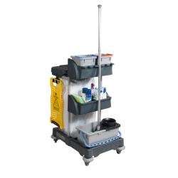 Cheap Stationery Supply of Numatic Xtra-Compact XC-1 Cleaning Trolley with 3 Buckets and 2 Tray Units W840xD570xH1060mm 907440 Office Statationery