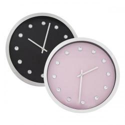 Cheap Stationery Supply of ECC 12 Inch Chrome Effect Clock ECC008 Office Statationery