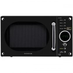 Cheap Stationery Supply of Daewoo KOR6N9RB (20 Litre) 800W Touch Control Retro Style Microwave Oven (Glossy Black) KOR6N9RB Office Statationery