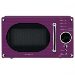 Cheap Stationery Supply of Daewoo KOR6N9RP (20 Litre) 800W Touch Control Retro Style Microwave Oven (Glossy Purple) KOR6N9RP Office Statationery