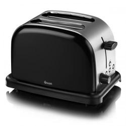 Cheap Stationery Supply of Swan 2 Slice Black Toaster ST14010BLKN Office Statationery
