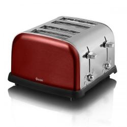 Cheap Stationery Supply of Swan Metallic Rouge 4 Slice Toaster ST16010ROUN Office Statationery