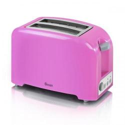 Cheap Stationery Supply of Swan Pink 2 Slice Toaster ST14030PIN Office Statationery