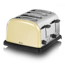 Cheap Stationery Supply of Swan 4 Slice Cream Toaster ST14020CREN Office Statationery