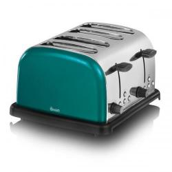 Cheap Stationery Supply of Swan 4 Slice Teal Toaster ST14020TELN Office Statationery