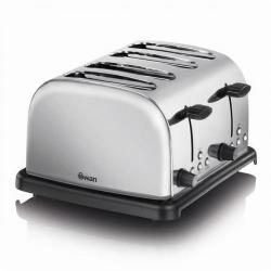 Cheap Stationery Supply of Swan 4 Slice Stainless Steel Toaster ST14020N Office Statationery
