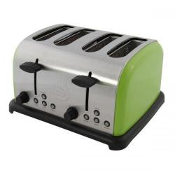 Cheap Stationery Supply of Swan 4 Slice Stainless Steel Toaster Pea Green ST14020PN Office Statationery