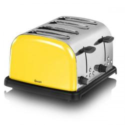 Cheap Stationery Supply of Swan 4 Slice Yellow Toaster ST14020YELN Office Statationery