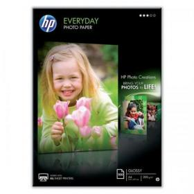 Hewlett Packard HP Everyday Photo Paper Glossy 200gsm A4 Ref Q2510A 100 Sheets