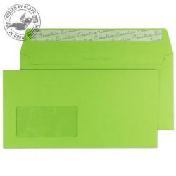 Cheap Stationery Supply of Creative Colour Wallet P&S Window Lime Green 120gsm DL+ 114x229mm 207W Pk 500 *10 Day Leadtime* Office Statationery