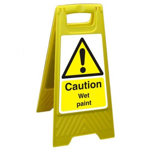 Free Standing Floor Sign Poly Caution Wet Paint
