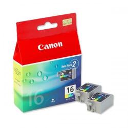Cheap Stationery Supply of Canon BCI-16 (Yield: 75 Pages) Cyan/Magenta/Yellow Ink Cartridge Pack of 2 9818A002 Office Statationery