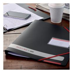 Cheap Stationery Supply of Black n Red by Elba Ring Binder 16mm Capacity PP 4 O-Rings A4 Black 400078863 Office Statationery