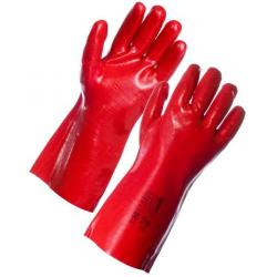 Cheap Stationery Supply of Supertouch (35cm) PVC Dip Gauntlet (Red) 23123 Office Statationery