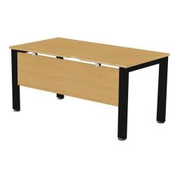 Cheap Stationery Supply of Sonix Office Furniture (140x80cm) Rectangular Desk (Oak) with a Black Frame fbcsmw14-1obk Office Statationery