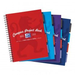 Cheap Stationery Supply of Oxford Campus Project Book Twinwire Ruled with Margin 90gsm 200pp A4+ Assorted 400015503 Pack of 5 Office Statationery