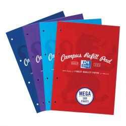 Cheap Stationery Supply of Oxford Campus Refill Pad Sbd 90gsm Ruled Margin Punched 4 Holes 300pp A4 Assorted 400033050 Pack of 3 Office Statationery