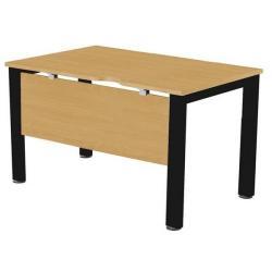Cheap Stationery Supply of Sonix Office Furniture (100x80cm) Rectangular Desk (Oak) with a Black Frame fbcsmw10-1obk Office Statationery
