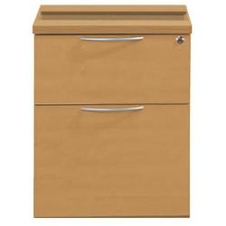 Cheap Stationery Supply of Sonix Office Furniture (43x56.5x49cm) Fixed Two Drawer Pedestal (Beech) w9147b Office Statationery