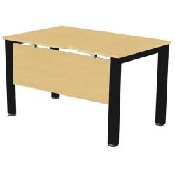 Cheap Stationery Supply of Sonix Office Furniture (100x80cm) Rectangular Desk (Maple) with a Black Frame fbcsmw10-1mbk Office Statationery