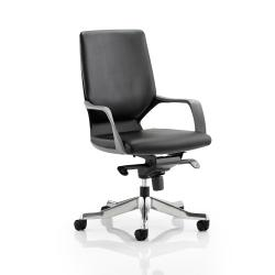 Cheap Stationery Supply of Adroit Xenon Executive With Arms Medium Back Black Shell Leather Black EX000084 Office Statationery
