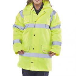 Cheap Stationery Supply of B-Seen High Visibility Fleece Lined Traffic Jacket 6XL Saturn Yellow CTJFLSY6XL *Upto 3 Day Leadtime* Office Statationery