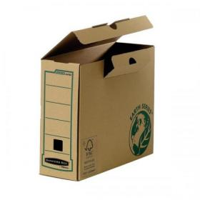 Bankers Box by Fellowes Earth Srs Transfer Bx File Rcyc FSC Tab Lock Lid W100mm A4 Ref 4470201 Pack of 20