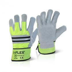 Cheap Stationery Supply of B-Flex Canadian High Quality High Viz Rigger Glove Yellow CANCHQHV Pack of 10 *Up to 3 Day Leadtime* Office Statationery