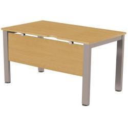 Cheap Stationery Supply of Sonix Office Furniture (120x80cm) Rectangular Desk (Oak) with a Silver Frame fbcsmw12-1o Office Statationery