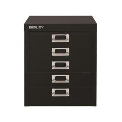 Cheap Stationery Supply of Bisley SoHo Multidrawers 5-Drawer 51mm Drawer Height (Black) H125NL-av1 Office Statationery
