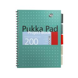 Cheap Stationery Supply of Pukka Metallic Project Book A4 80gsm Green 8521-MET Pack of 3 Office Statationery