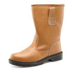 Cheap Stationery Supply of Rigger Boot Plus Leather with Rubber Toecap Size 12 Tan *Approx 3 Day Leadtime* Office Statationery